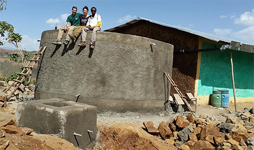 Water tank built in Ethiopia, by the EWB group.